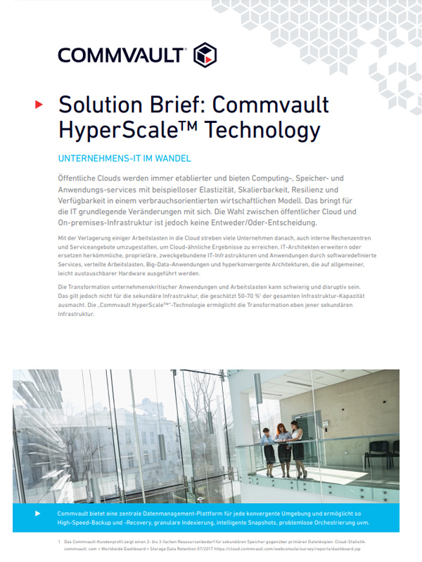 Scale-out-Datensicherung: Commvault HyperScale Technology