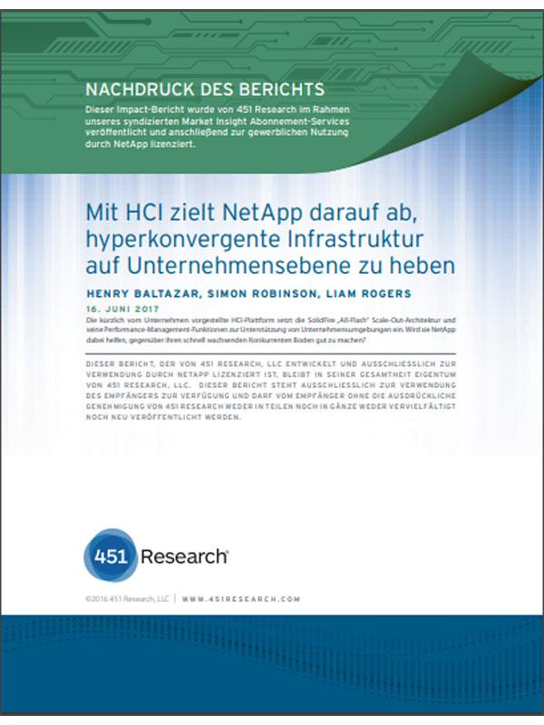 Mit HCI zielt NetApp darauf ab, hyperkonvergente Infrastruktur auf Unternehmensebene zu heben
