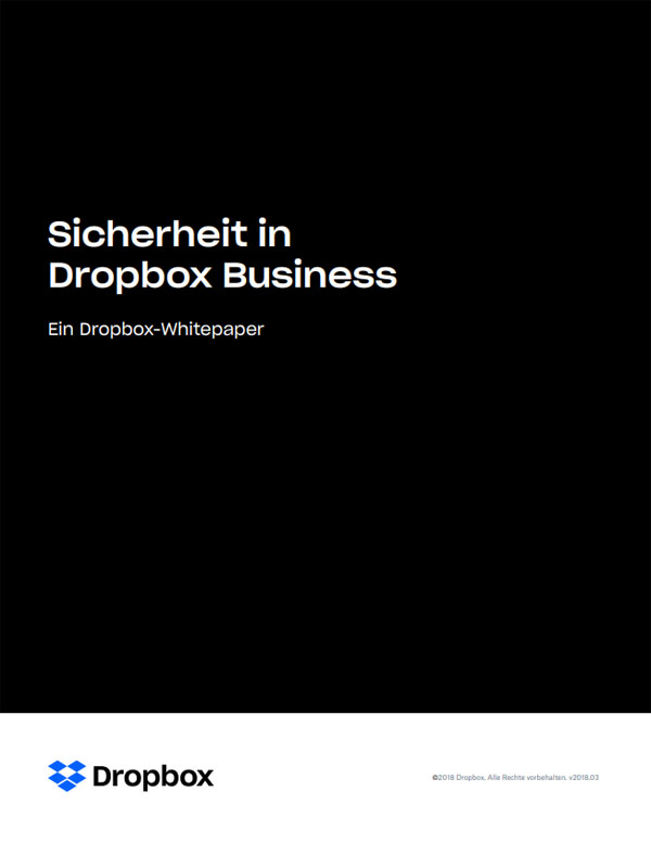 Sicherheit in Dropbox Business