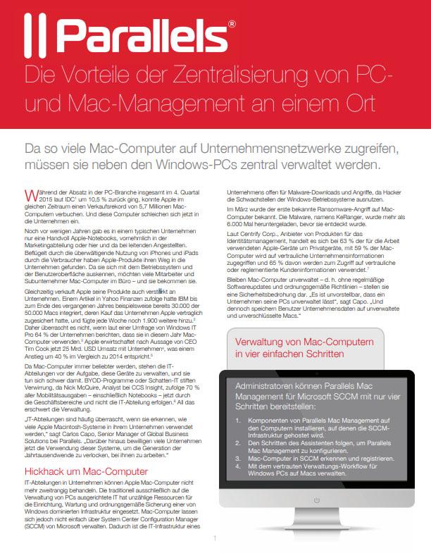 Die Vorteile der Zentralisierung von PC- und Mac-Management an einem Ort
