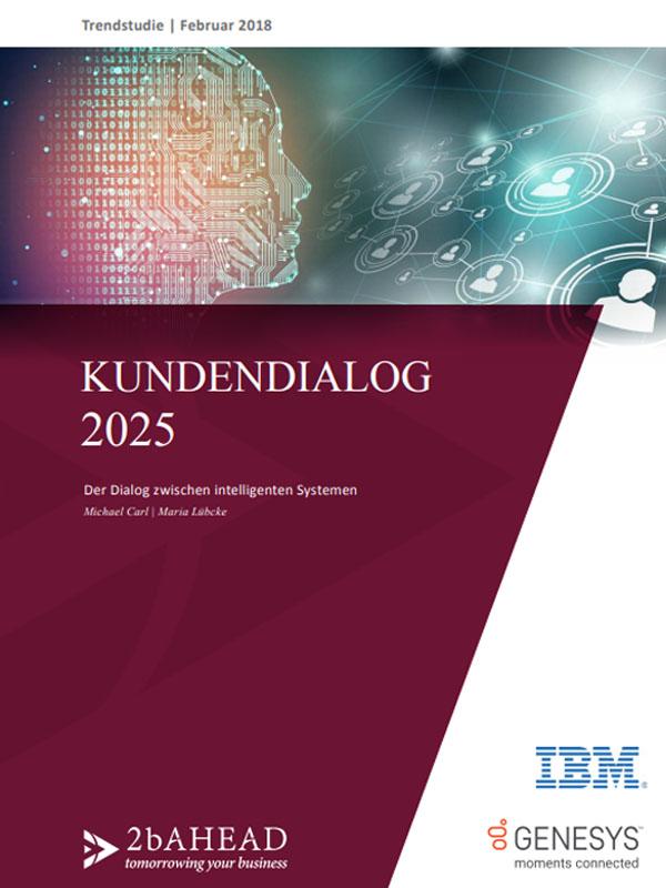 Neue Trendstudie: Kundendialog 2025 – Der Dialog zwischen intelligenten Systemen