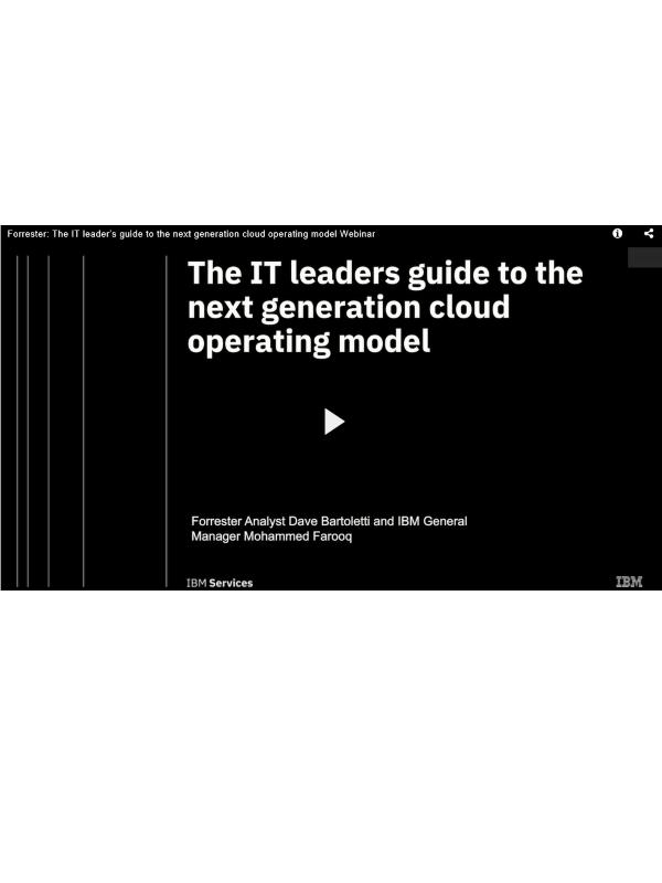 Webinar: Leitfaden für IT-Manager zum Cloud-Betriebsmodell der nächsten Generation