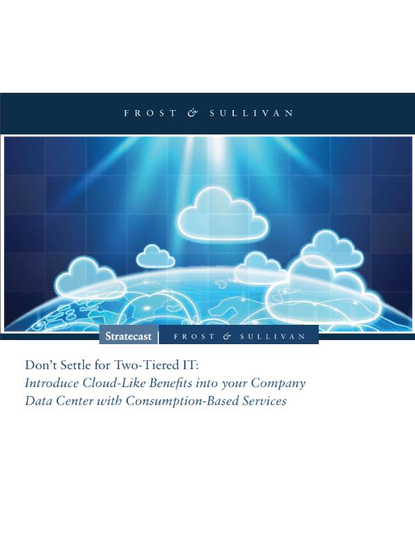Geben Sie sich nicht mit zweistufiger IT zufrieden: Bringen Sie mit konsumbasierten Services Cloud-ähnliche Vorteile in Ihr Rechenzentrum.