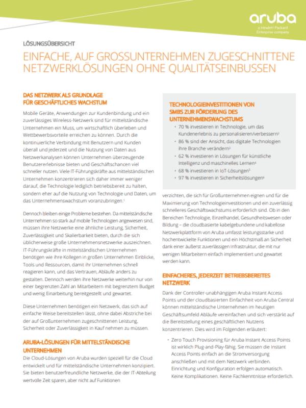Einfache, auf Großunternehmen zugeschnittene Netzwerklösungen ohne Qualitätseinbußen