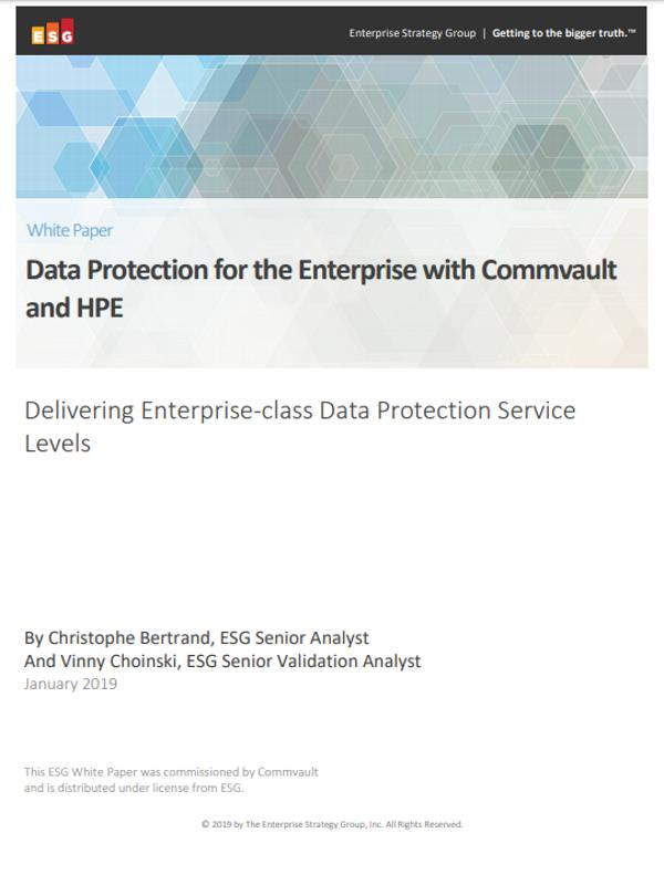 Datenschutz für Unternehmen mit Commvault und HPE