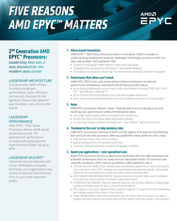 Fünf Gründe für AMD EPYC