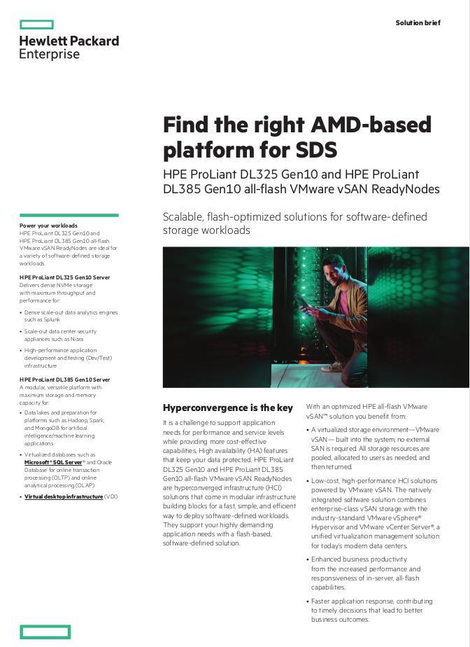 HPE: Die richtige AMD-basierte Plattform für SDS finden