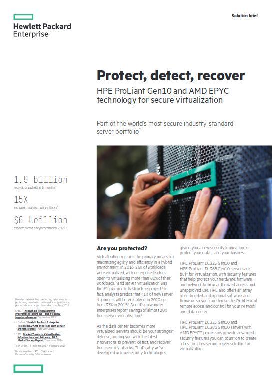 HPE Server mit AMD EPYC: Eine sichere Lösung für die Virtualisierung