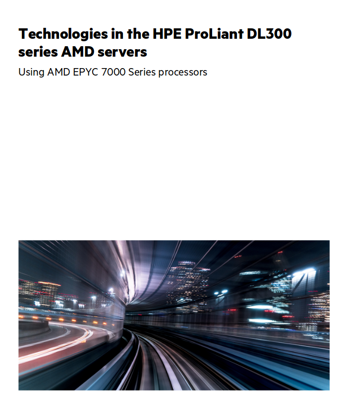 HPE ProLiant DL 300 Serie mit AMD EPYC: Technologien im Überblick