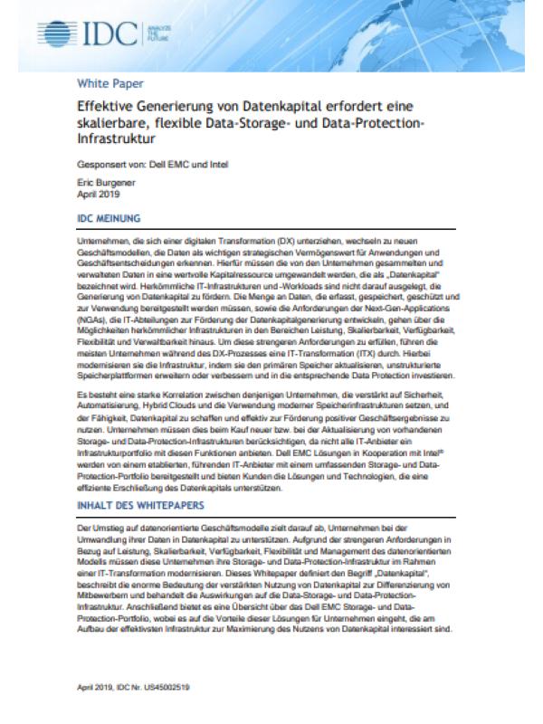 Effektive Generierung von Datenkapital erfordert eine skalierbare, flexible Data-Storage- und Data-Protection-Infrastruktur