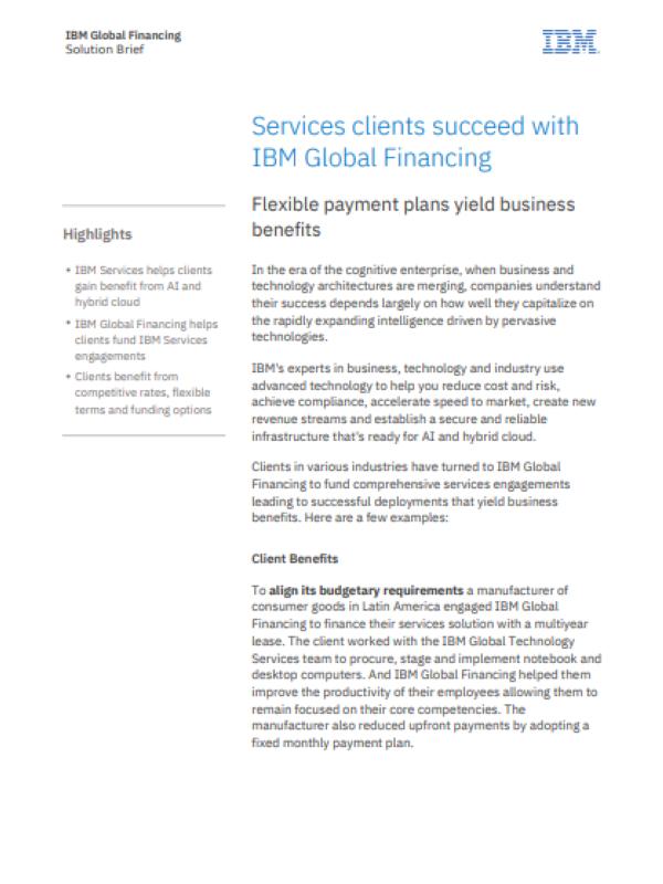 Erfolgreich mit IBM Global Financing