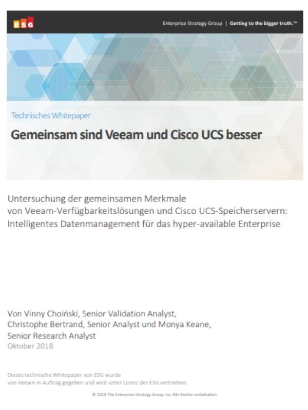 Gemeinsam sind Veeam und Cisco UCS besser