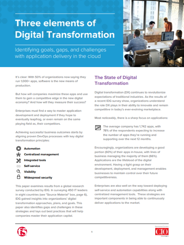 Drei Elemente der Digitalen Transformation