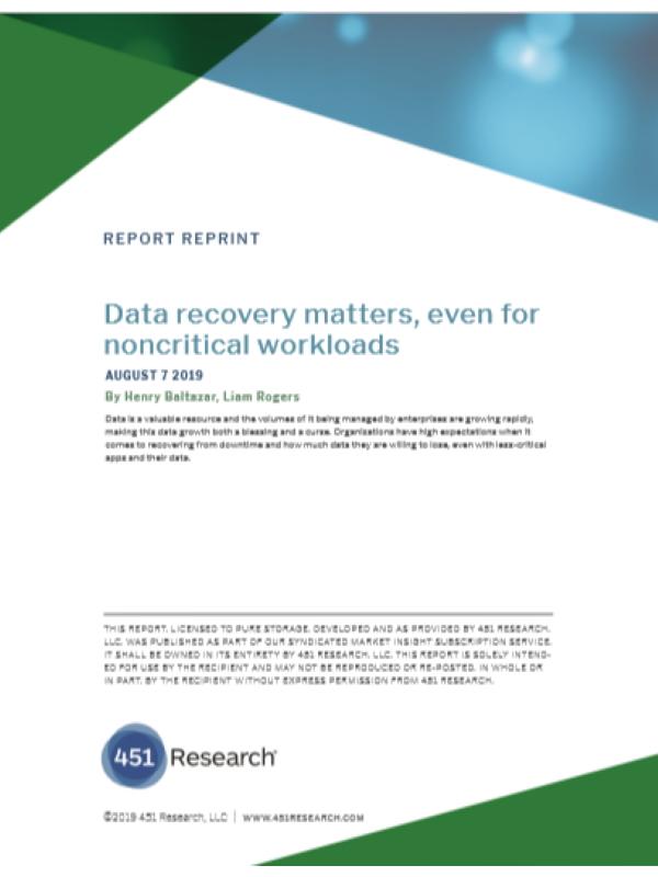 Datenwiederherstellung ist auch für nicht kritische Workloads wichtig