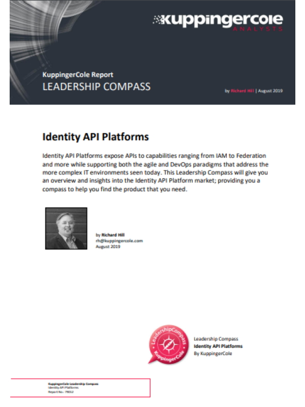 KuppingerCole Leadership Compass for Identity API Platforms