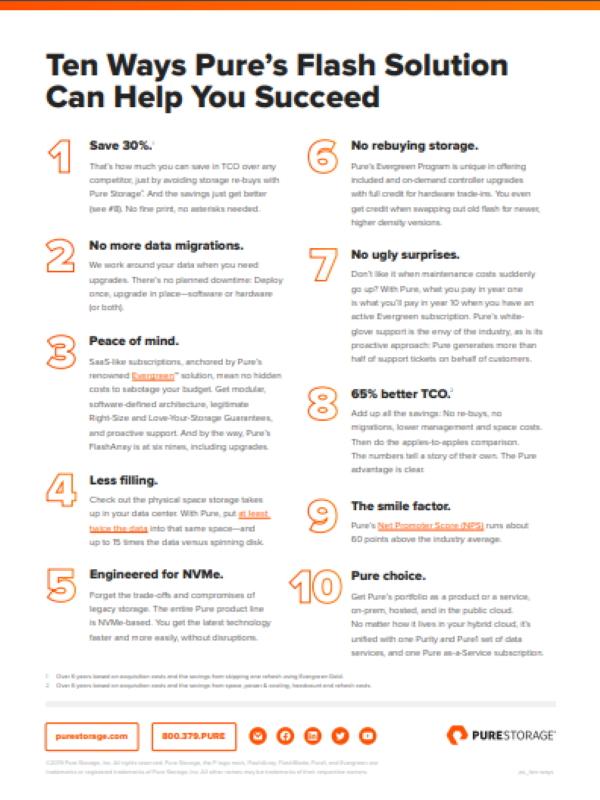 Pure Flash-Lösung: 10 Schritte zum Erfolg