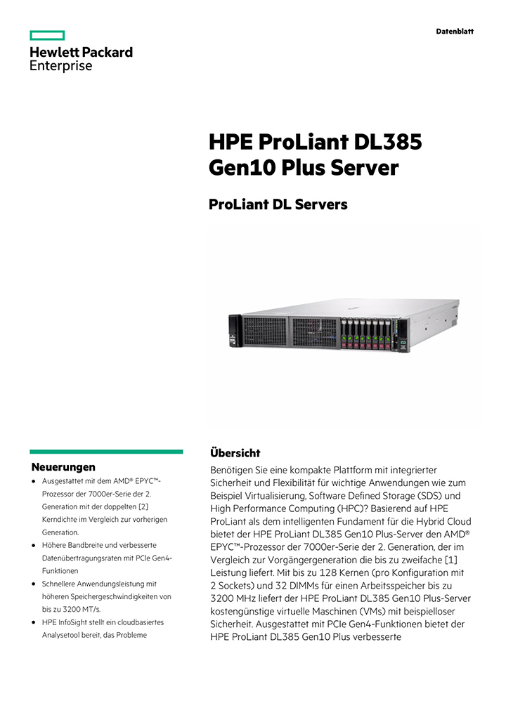 Broschüre: HPE ProLiant DL385 Gen10 Plus