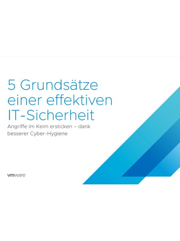 5 Grundsätze einer effektiven IT-Sicherheit