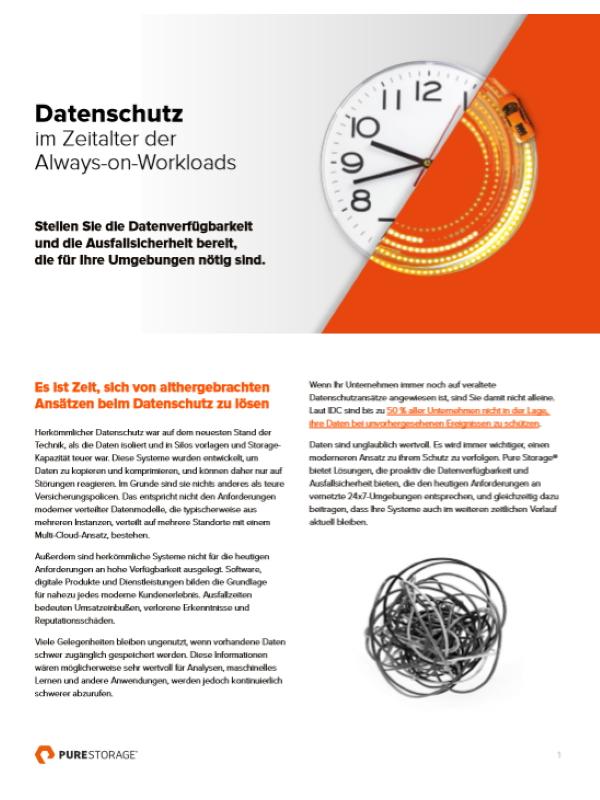 Datenschutz im Zeitalter der Always-on-Workloads