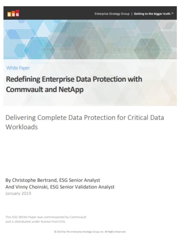 Neudefinition des Unternehmensdatenschutzes mit Commvault und NetApp
