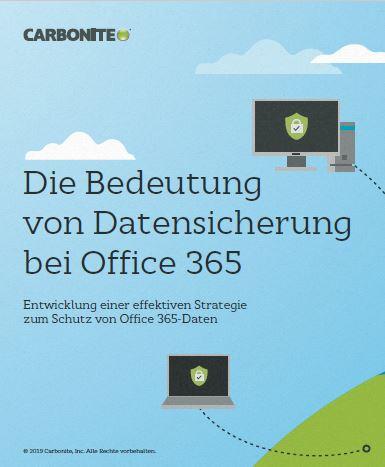 Die Bedeutung von Datensicherung bei Office 365