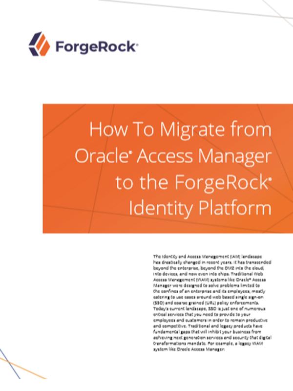 So migrieren Sie von Oracle® Access Manager zur ForgeRock® Identity Platform