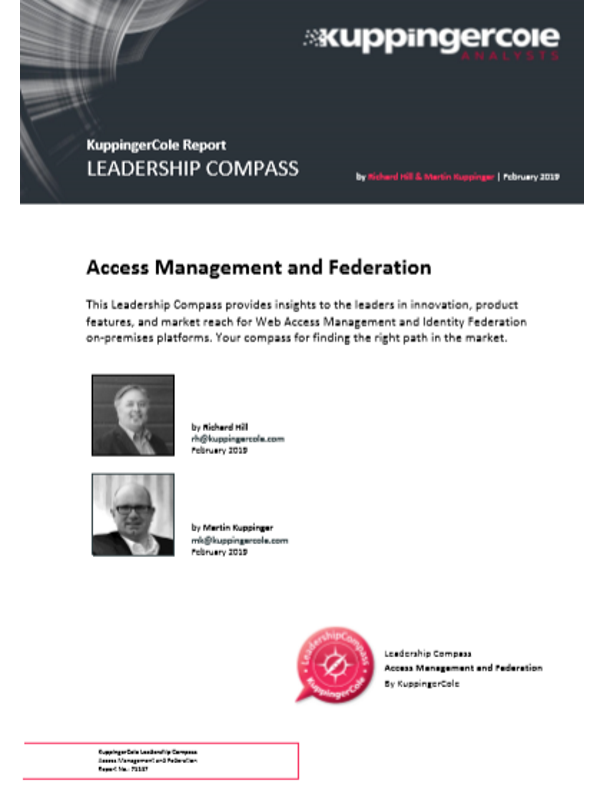 KuppingerCole Report Leadership Compass: Access Management & Federation 2019