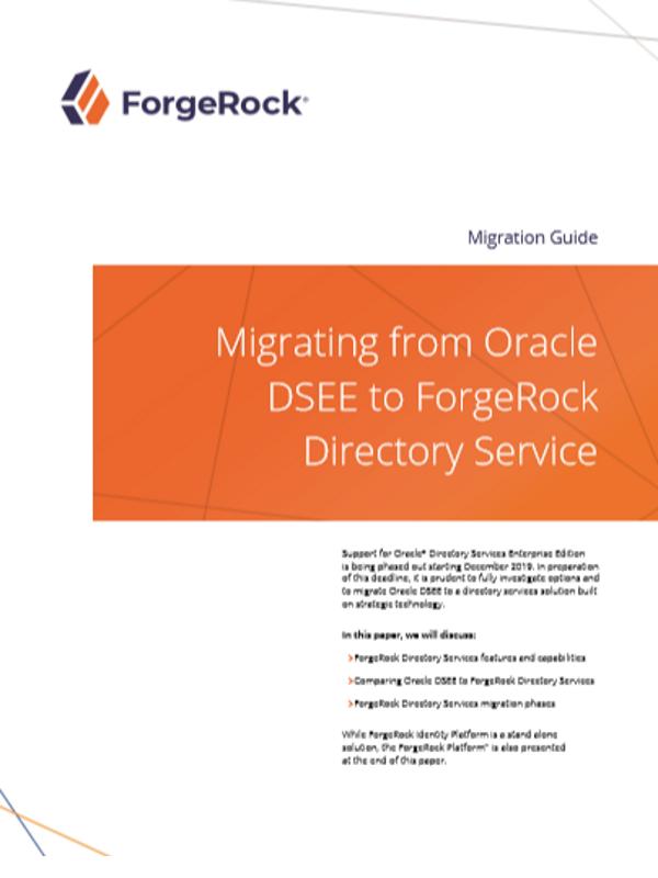 Migration von Oracle DSEE zu ForgeRock Directory Service