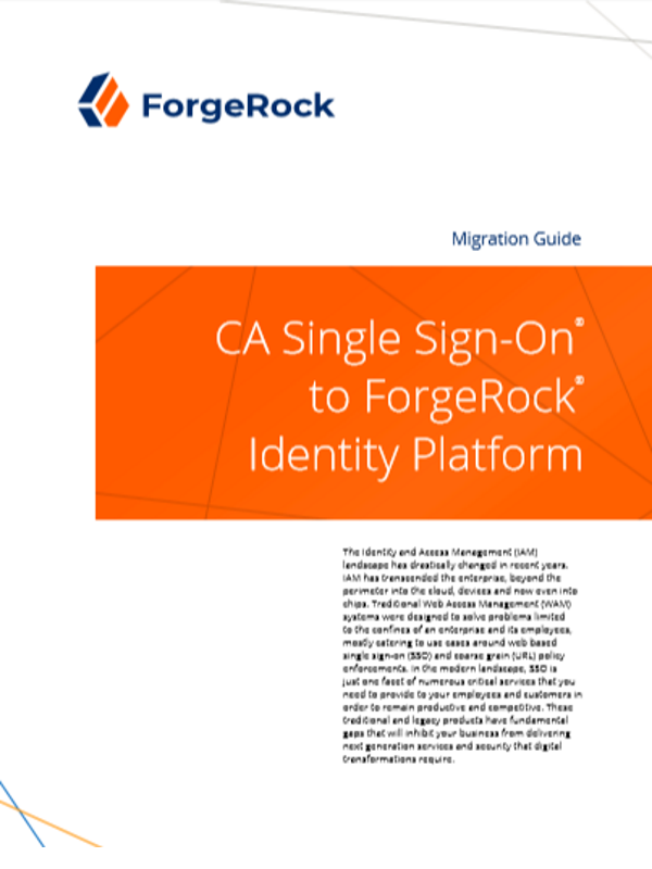 CA Single Sign-On® für die ForgeRock® Identity Platform