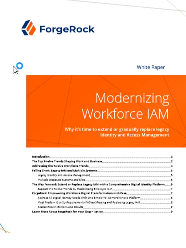 Modernisierung der IAM-Arbeitswelt