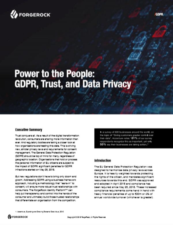 Macht für Menschen: DSGVO, Vertrauen und Datenschutz
