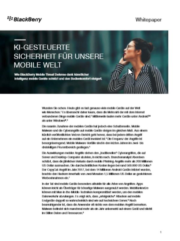 KI-gesteuerte Sicherheit für unsere mobile Welt