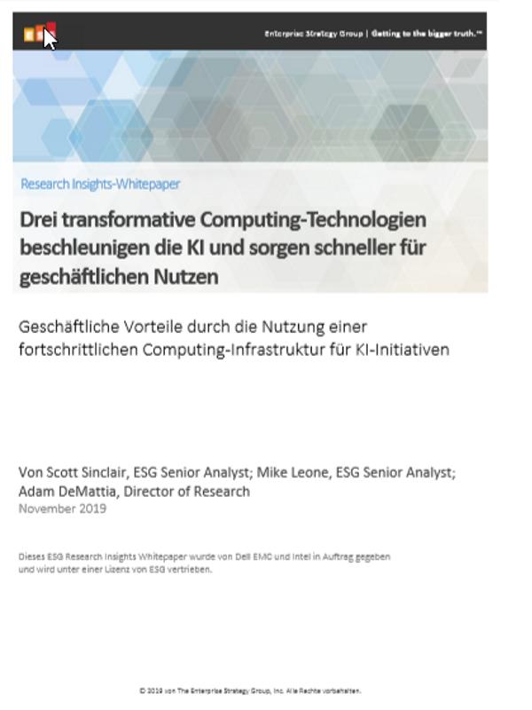 Drei transformative Computing-Technologien beschleunigen die KI und sorgen schneller für geschäftlichen Nutzen