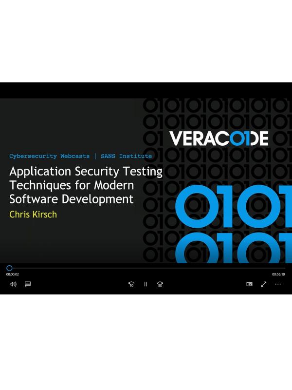 Webinar: Application Security Testing Techniques for Modern Software Development