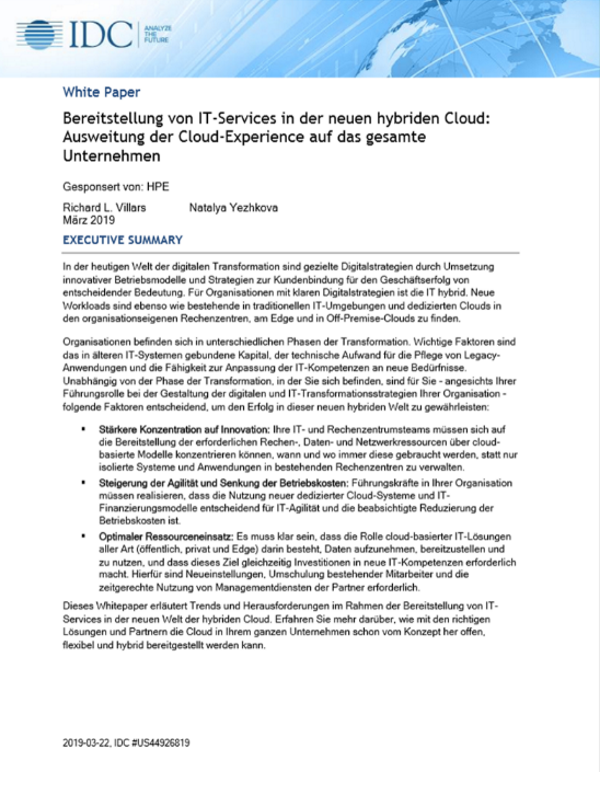 Cloud-Erlebnis für das gesamte Unternehmen