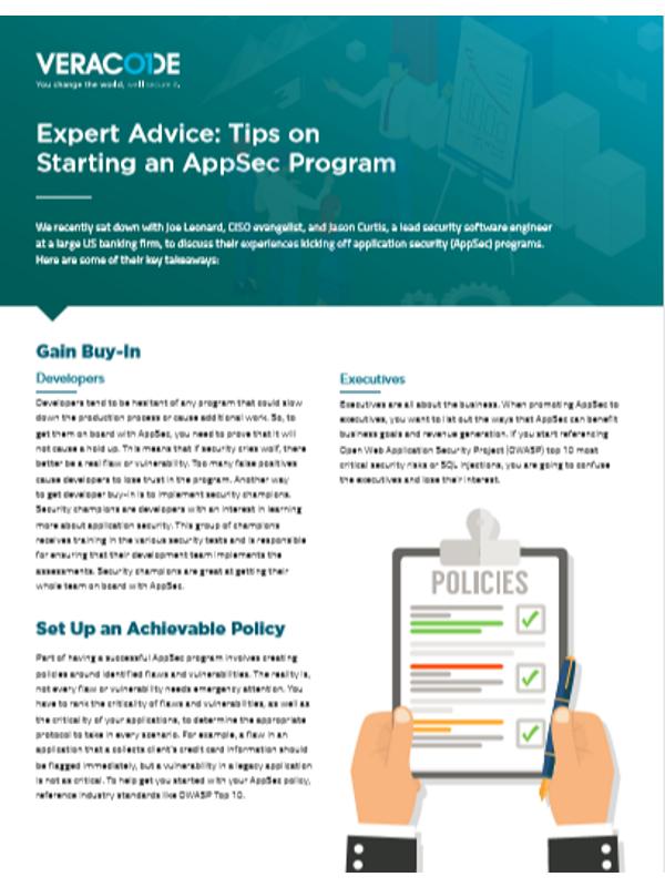 Expertenrat: Tipps zu Starten eines AppSec-Programms