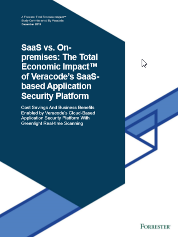 SaaS vs. Onpremises: Total Economic Impact™ der SaaS-basierten Plattform für Anwendungssicherheit von Veracode
