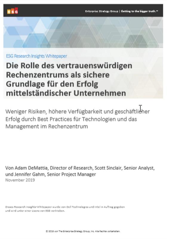 Die Rolle des vertrauenswürdigen Rechenzentrums als sichere Grundlage für den Erfolg mittelständischer Unternehmen