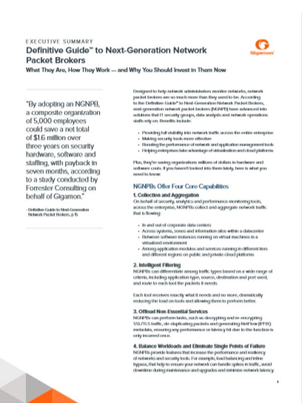 Definitive Guide™: Next-Generation Network Packet Broker (Zusammenfassung)