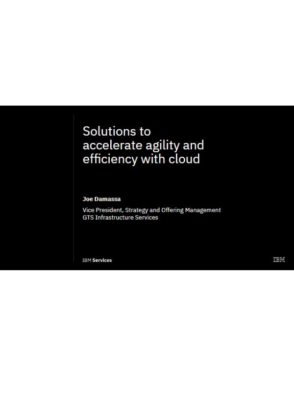 Lösungen zur Beschleunigung von Agilität und Effizienz mit der Cloud