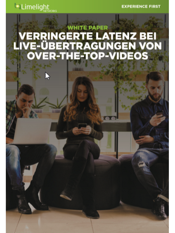 Verringerte Latenz bei Liveübertragungen von Over-the-Top-Videos