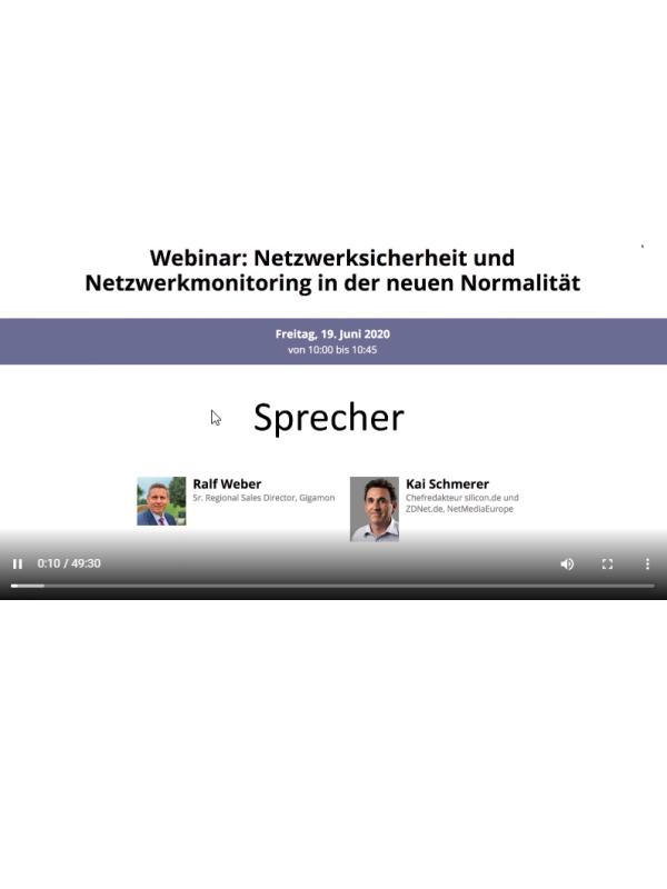 Webinar: Netzwerksicherheit und Netzwerkmonitoring in der neuen Normalität