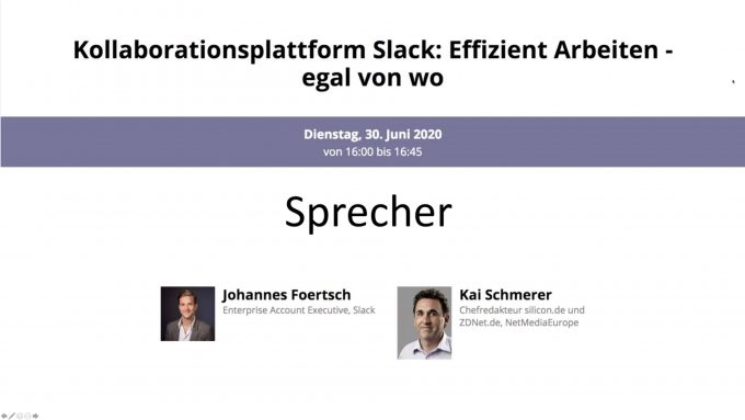 Slack-Webinar Juni 2020 (Screenshot: Silicon.de)