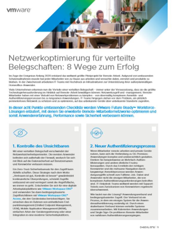 Netzwerkoptimierung für verteilte Belegschaften: 8 Wege zum Erfolg