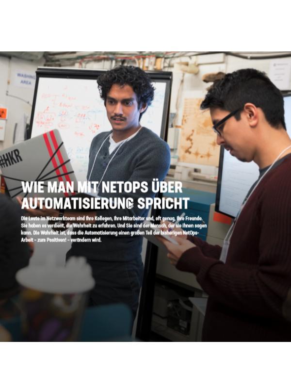 Wie man mit NetOps über Automatisierung spricht
