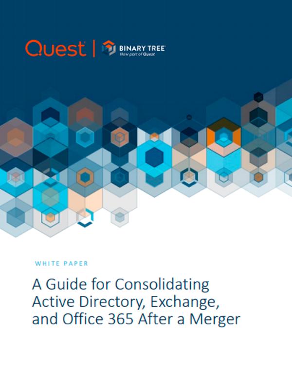 Leitfaden zur Konsolidierung von Active Directory, Exchange und Office 365 nach einer Fusion