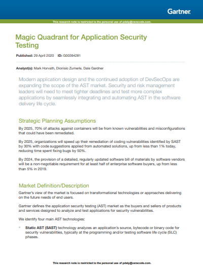"""Magic Quadrant"" Testing der Anwendungssicherheit"
