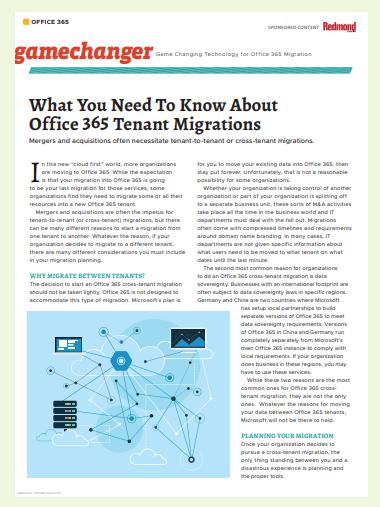 Was Sie über die Office 365 Tenant-Migrationen wissen müssen