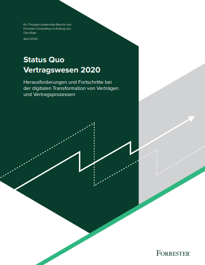 Ein Thought-Leadership-Bericht von Forrester Consulting zu Vertragswesen in 2020