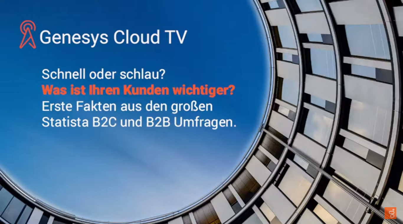 "Genesys Cloud – Statista Umfrage ""Status Kundenservice D/A/CH 2021"""